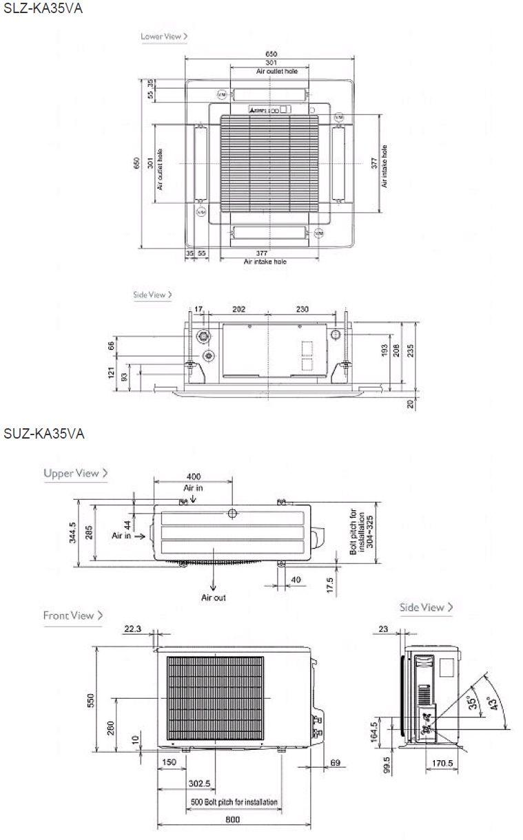 Mitsubishi Electric Air Conditioning Slz Ka50vaq Mini Cassette 3 Phase Motor Wiring Diagram Inverter Heat Pump 5kw 17000btu A